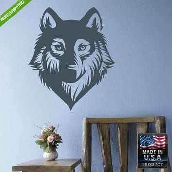 Wall Vinyl Decal Decal Sticker Beautiful Cute Wolf Animals Bedroom  z126