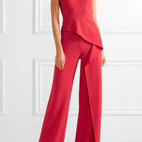 Roland Mouret - Tilson off-the-shoulder cutout stretch-crepe jumpsuit