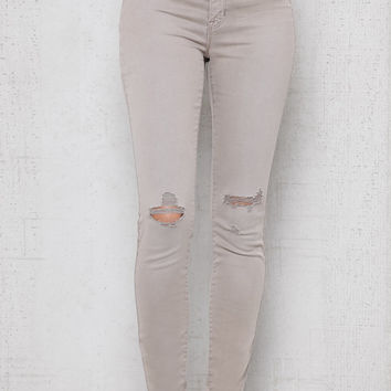 PacSun Pewter Ripped Jeggings at PacSun.com