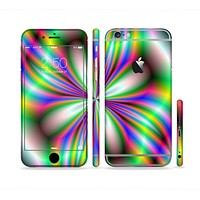 The Neon Tie-Dye Flower Sectioned Skin Series for the Apple iPhone 6 Plus