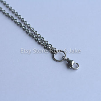 "30"" 3mm Rolo Chain Made for Memory Floating Locket Necklace pendants 316L Stainless Steel"