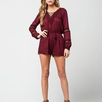 INNY Lace Up Womens Romper | Rompers