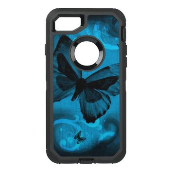 Blue Butterfly OtterBox Defender iPhone 7 Case