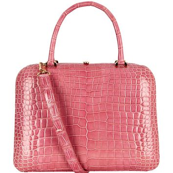 Analeena Medium Crocodile Florence Bag Light Pink| Harrods.com