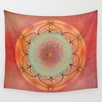 Sacral Chakra Wall Tapestry by Brenda Erickson