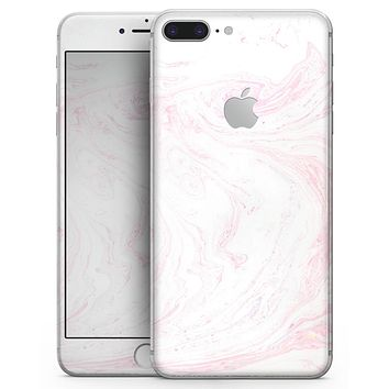 Light Pink Textured Marble - Skin-kit for the iPhone 8 or 8 Plus