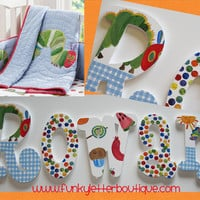 The Very Hungry Caterpillar Hand Painted Wooden Nursery Letters