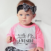 Black White Baby Leggings/ Tribal/ Ikat/ Toddler Leggings/ Girlie/ Ethnic/ Baby Girl Pants/ Kids Clothing/ Toddler Pants/ Baby Gift