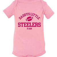 Adorable Daddy's Little Steelers Fan T-shirt! Pittsburgh Steelers Fan shirt available infant, toddler & child! Great gift for any occasion