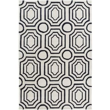 Hudson Deco Navy Blue Rug