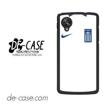 Greece Soccer Jersey For Google Nexus 5 Case Phone Case Gift Present YO