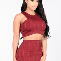 Days Like This Top - Burgundy