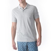 Marlowe Slim Fit Slub Pique Polo - Gray