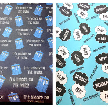 TFIOS or TARDIS 6 Foot Roll of Wrapping Paper