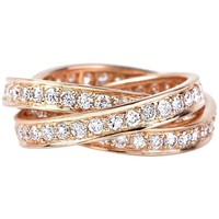 Cartier Trinity Diamond Yellow Gold Eternity 'Rolling' Ring