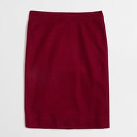 Factory petite pencil skirt in double-serge wool