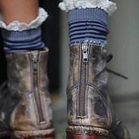 Free People Womens Nautical Heathered Highland Boot Sock