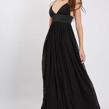**Strappy Plunge Maxi Dress by Rare - Dresses - Clothing