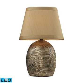 D2222-LED Gilead LED Table Lamp With Alligator Texture Base In Meknes Bronze - Free Shipping!