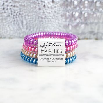 Hotline Hair Ties - Skinny Bright Set