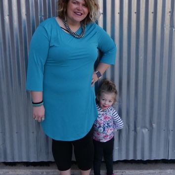 Long Turquoise Top