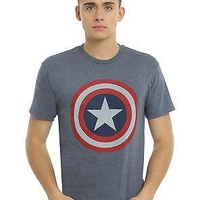 Hot Topic - Marvel Universe Captain America Shield T-Shirt - MD