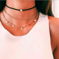 Gold Plated Multi-Layer Necklace