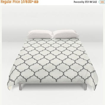 SALE FLAT 20% OFF Duvet Cover, black and white bedding, Ornamental seamless bedding, pattern duvet cover, Bedding, Home Interior Decoration
