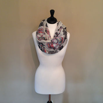 Skull Infinity Scarf by KnitPopShop