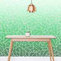 'Ombre green and white swirls doodles' Wallpaper by Savousepate on miPic