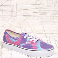 Vans Authentic Pink Tie-Dye Trainers at Urban Outfitters