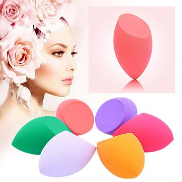 New 1 PC Beauty Makeup Sponge Shaped Water Droplets Powder Puff With Latexand and Non-latex Cosmetic Puff