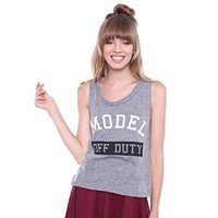 Contemporary Grey Model Off Duty Graphic Tee ICT10423