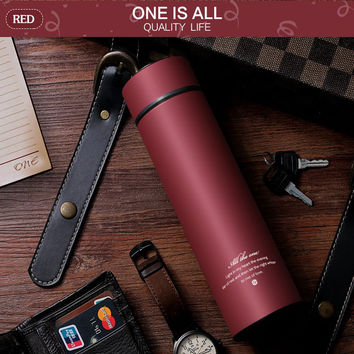 450MLBlack Thermalcup Stainless Steel Thermal Mug Tea Drinkware Insulated Thermos Coffee Mug Vacuum Flasks Cup Vacuum Flask