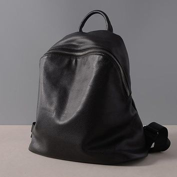 Autumn Genuine leather Backpack Women's Ellipse Bags Style Lady Large Capacity bag New Design purses