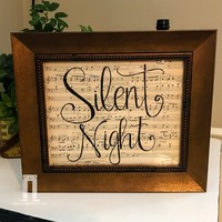 Silent Night on Vintage Sheet Music for Christmas