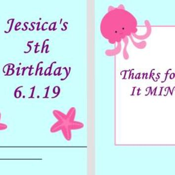 20 Mermaid and Friends Birthday Party Matchbook Mint Favors Blonde Hair
