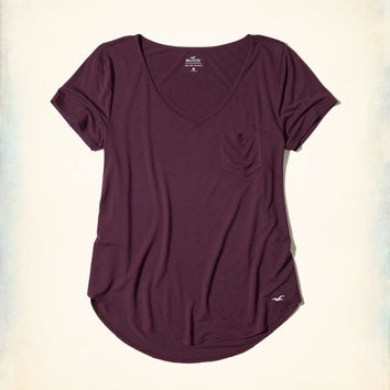 Girls Must-Have Easy Pocket T-Shirt | Girls Must-Haves | HollisterCo.com