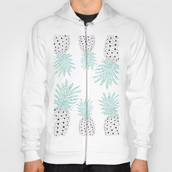 Pineapple Pattern Hoody by ES Creative Designs