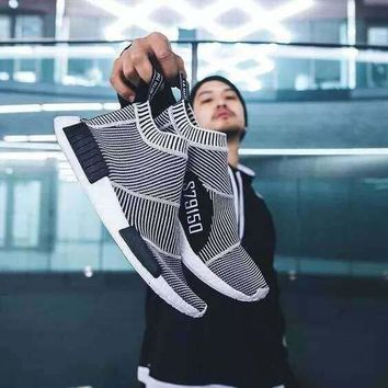 (With Box) NMD Runner PK City Sock Men Women Classic Running Shoes Fashion Primeknit nmd Grey Black Sports Sneakers Boots Trainers Eur 364
