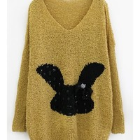 *Free Shipping* Yellow Women Sweater Free Size  A154 from MaxNina