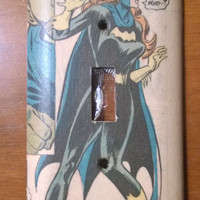 Batgirl Comic Book light switch cover