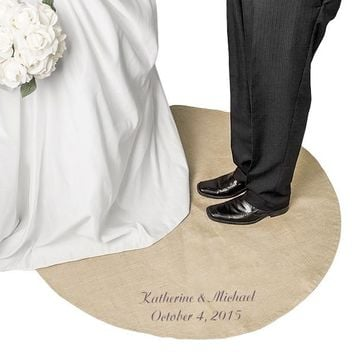 Personalized Keepsake Wedding Vow Rug