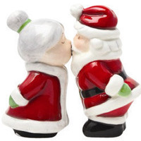 Kissing Santa and Mrs. Clause Shaker Set | Salt and Pepper Shakers | RetroPlanet.com