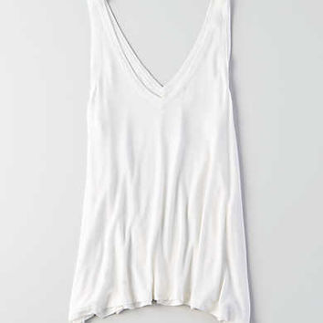 AEO Soft & Sexy V-Neck Jegging Tank, Natural White