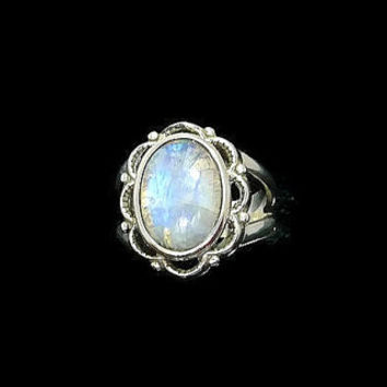 Moonstone Ring, Flower Ring, Rainbow Moonstone Ring, Cocktail Ring, Statement Ring, Healing Ring, Birthstone Ring, Promise Ring
