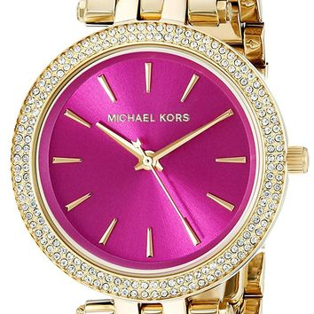 Michael Kors Women's Goldtone Mini Darci Watch