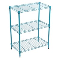 Room Essentials Turquoise 3 Tier Wire Unit