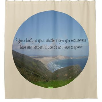 Vehicle Quote by Kat Worth Shower Curtain
