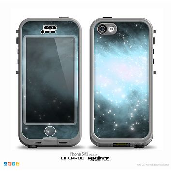 The Light & Dark Blue Space Skin for the iPhone 5c nüüd LifeProof Case